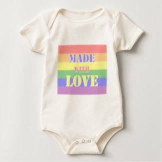 Made with Love Family Pride Crawler Baby Bodysuit
