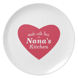 Made with Love Food Label Dinner Plate