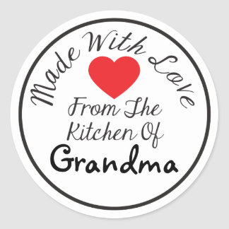 Made With Love From The Kitchen Of Classic Round Sticker