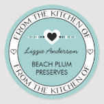 Made with Love From the Kitchen of Label Classic Round Sticker