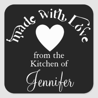Made With Love From The Kitchen Of Square Sticker
