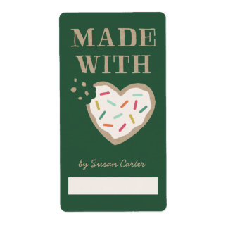 Made with Love Gift Tag Label - Pine Shipping Label