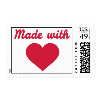Made with Love heart Postage