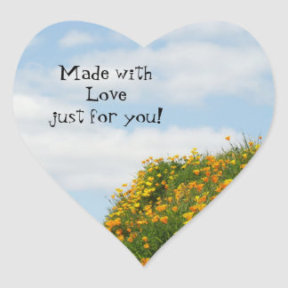 Made with Love just for you! stickers Blue Skies