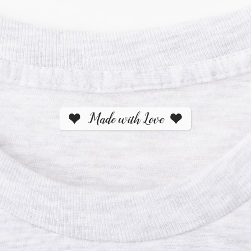 Made with Love kids Clothing Labels, Shirt Label