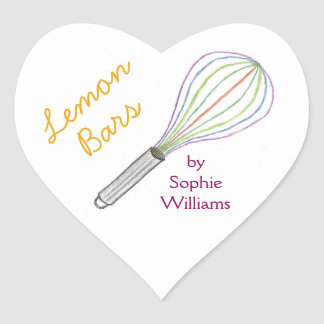 Made With Love lemon bar baking stickers
