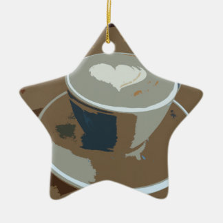 Made with love Double-Sided star ceramic christmas ornament