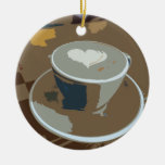 Made with love Double-Sided ceramic round christmas ornament