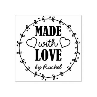 Made with Love - Personalised Rubber Stamp