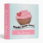 Made with Love Pink & Blue Cupcake Recipe Binder
