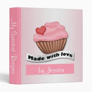 Made with Love Pink Cupcake Recipe Binder