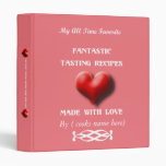 Made with Love Pink Recipe Binder