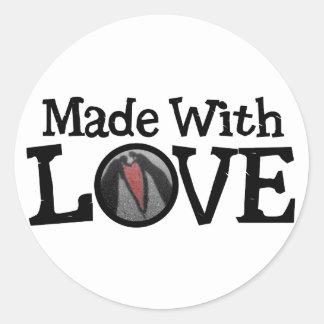 Made with LOVE Round Sticker