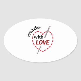 Made With Love Oval Stickers
