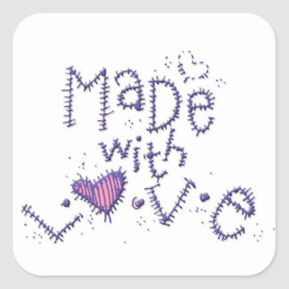Made With Love Square Sticker