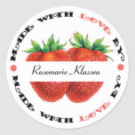 Made with Love Strawberry Classic Round Sticker