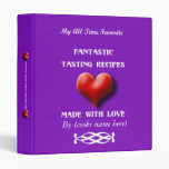 Made with love Violet Recipe Binder