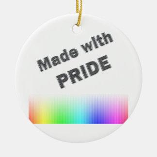 Made With Pride Ceramic Ornament