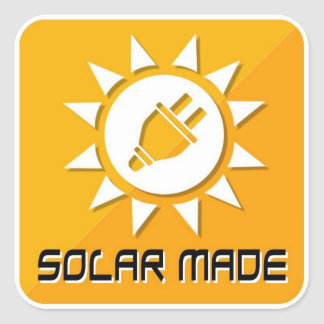 Made With Solar Stickers
