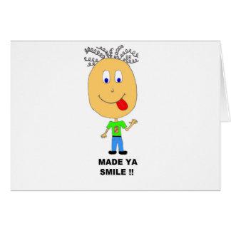 made ya smile card