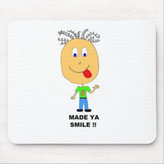 made ya smile mouse pads