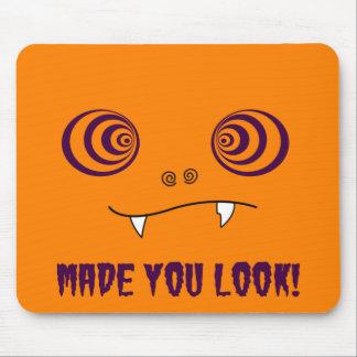 Made you look - Orange mousepad