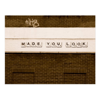 Made You Look Postcard