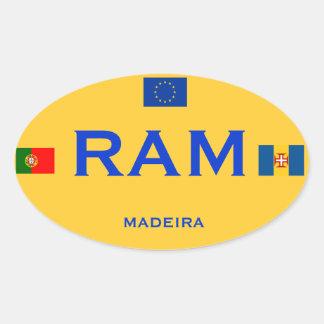 Madeira* European-Style Bumper Sticker