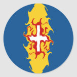 Madeira Gnarly Flag Round Sticker