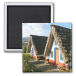 Madeira Island typical houses, Portugal 2 Inch Square Magnet