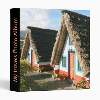 Madeira Island typical houses, Portugal 3 Ring Binders