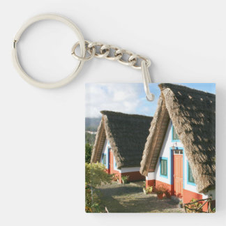 Madeira Island typical houses, Portugal Keychain