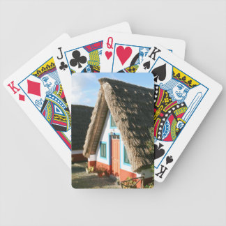 Madeira Island typical houses, Portugal Bicycle Playing Cards