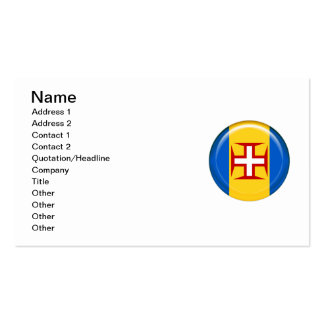Madeira islands flag Double-Sided standard business cards (Pack of 100)