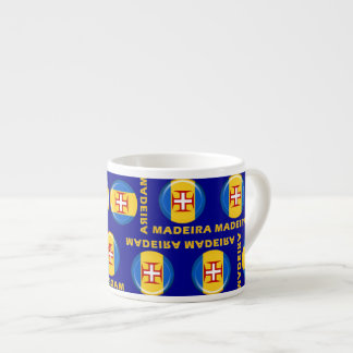 Madeira islands flag espresso cup