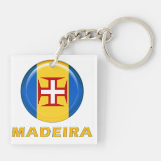 Madeira islands flag keychain