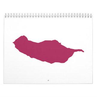 Madeira map calendar