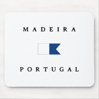 Madeira Portugal Alpha Dive Flag Mouse Pad