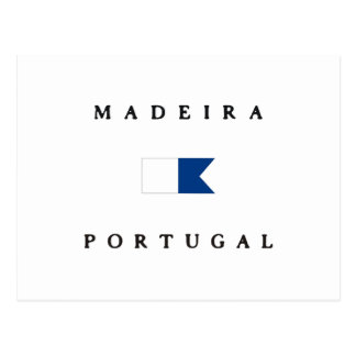 Madeira Portugal Alpha Dive Flag Postcard