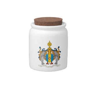 Madeira (Portugal) Coat of Arms Candy Jar