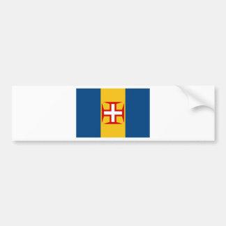 Madeira (Portugal) Flag Car Bumper Sticker