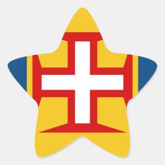 Madeira (Portugal) Flag Star Sticker