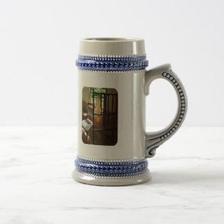 Madejas colgantes del hilado tazas de café