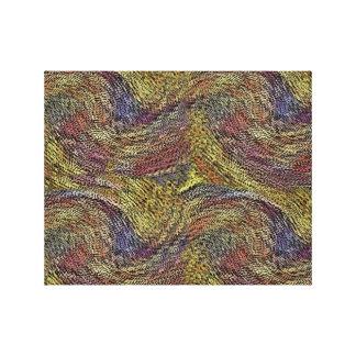 Madejas del hilado impresiones en lona estiradas