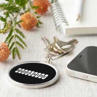 Madelaine Round Silvery Style Keychain