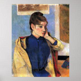 Madeleine Bernard de Eugène Enrique Paul Gauguin Poster