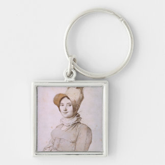 Madeleine Chapelle  1813 Silver-Colored Square Keychain