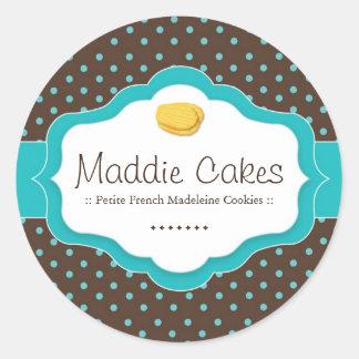 Madeleine Cookies Polk a Dot Stickers