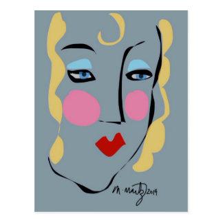 Madeleine estaba enojada para Matisse Tarjetas Postales