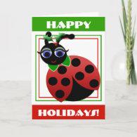 Madeleine Toon Ladybug Holiday! Card